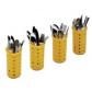 Комплект из 4 желтых пластиковых корзин для столовых приборов